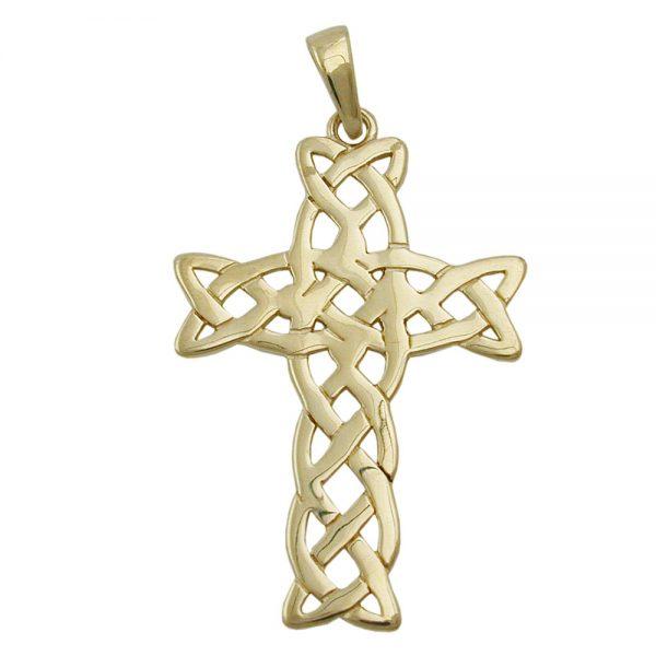 Anhänger, Kreuz, glänzend, 9Kt GOLD