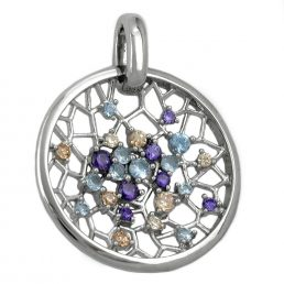 Pendant, Dream Catcher, Multicolour, Silver 925