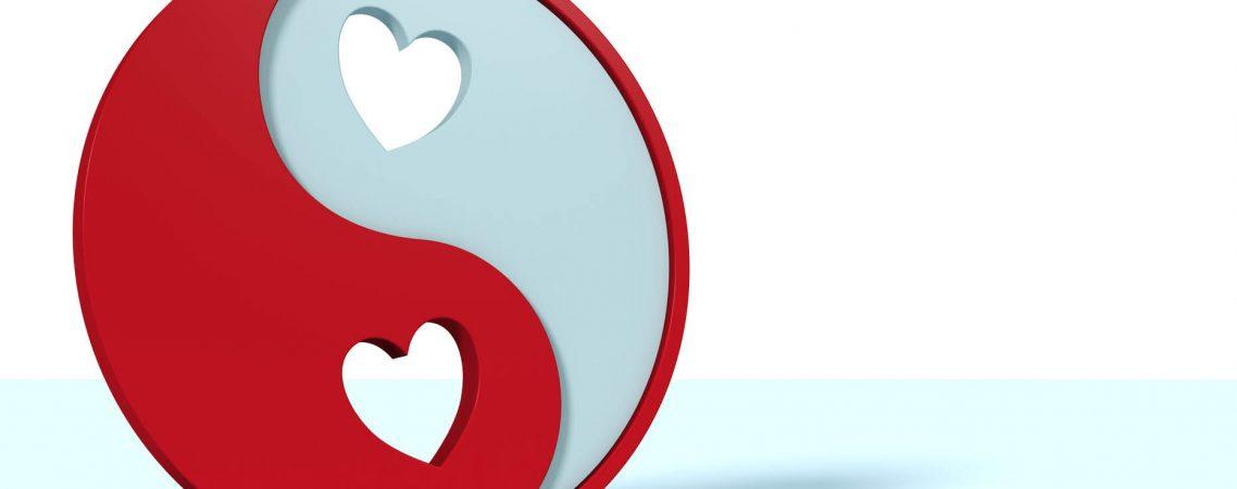 Yin und Yang Symbol als Valentinstag Geschenk für sie / Yin and Yang symbol as valentines day gift for her