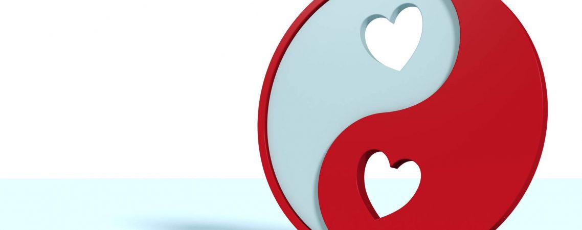 Yin und Yang Symbol als Valentinstag Geschenk für ihn