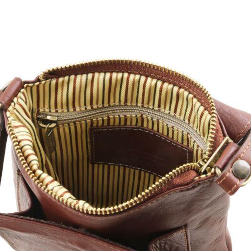 Sasha - Unisex Schultertasche aus Leder