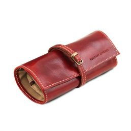 Exclusive leather jewellery case, red