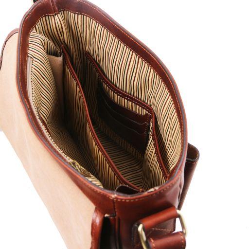 TL Messenger - Umhängetasche aus Leder mit 1 Fach - Mittelgross