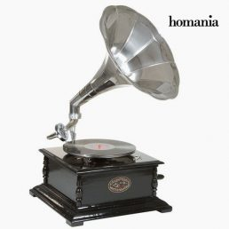 gramophone Squared Black Silver - Old Style Collection by Homania