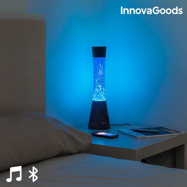 InnovaGoods Lavalampe mit Bluetooth Lautsprecher 30W und Mikrofon